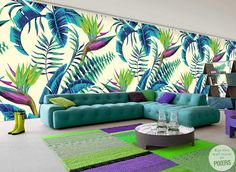 Wall Mural with the motive of exotic plants by PIXERSIZE.COM