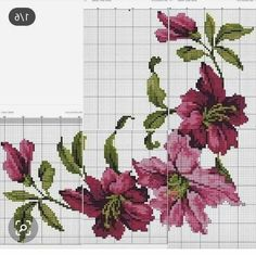 Cross Stitch Flowers, Hobbies, Jewellery, Ideas, Decorative Towels, Cross Stitch Embroidery, Embroidered Flowers, Bouquets, Patterns