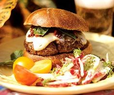 rustic burgers BEEF RECIPES | Ready for flavorful burgers? Grill these well-seasoned patties and top ...