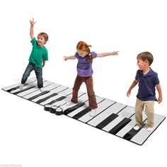 Floor Piano Toe Tap Dance Play Mat Electronic Keyboard Musical iPod Instrument  #Piano