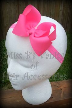 Basic Infant Headband Hair Bows www.facebook.com/missbsbowtique05 to see our latest auctions and more!