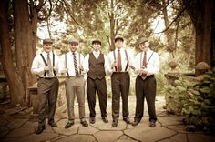 more from vintage groomsmen... so cute