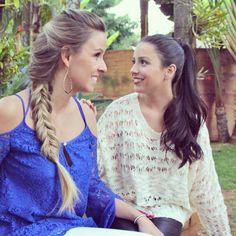 #onebraidaday #sisters #longhair #blond #brunette #braid