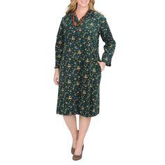 La Cera Women's Plus Size Hunter Dress