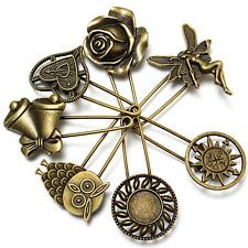 7 design vintage safety pin brooch scarf shawl belt buckle matching clothes Xmas