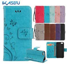 Ikasefu 대한 iphone 7 case 스탠드 지갑 가죽 case 대한 iphone 7 4.7 7 플러스 6 초 6 플러스 SE 5 초 5 4 초 4 아이팟 터치 5 6 플립 커버 카파