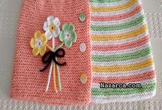 BEBEK YELEĞİNDE KOL YAKA KESİMİ GEREKTİRMEYEN MODEL   Nazarca.com Baby Cardigan Knitting Pattern, Baby Knitting Patterns, Cotton Rope, Cotton Fabric, Boutique Homes, Baby Vest, Crewel Embroidery, Home Textile, Crochet Flowers