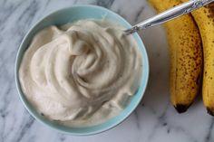 Gelado de banana com claras
