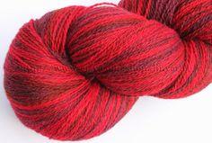 KAUNI Estonian Artistic Yarn Red 8/2, skein 256 g. Free shipping worldwide. $24.35, via Etsy.