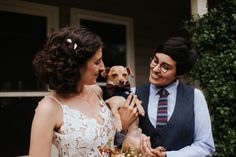 Click to see more photos from this sweet, beautiful DIY fall wedding // DIY wedding // Fall Wedding // Austin Wedding Venue // Texas Wedding Photographer // Same Sex Wedding Photographer // Same Sex Wedding // LGBTQ Wedding Photography // Austin Wedding Photographer // Austin Wedding Photography // Wedding Dogs