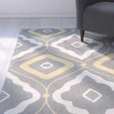 Salome Gray/Ivory Indoor/Outdoor Area Rug