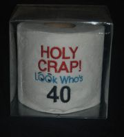 Embroidered 40th Birthday Toilet Paper
