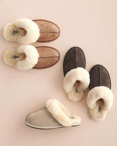 UGG® Scuffette Shearling Slippers-- Sand --- Heather