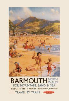 BRITISH RAILWAYS TRAVEL Poster England Travel by ArtDecoGallery