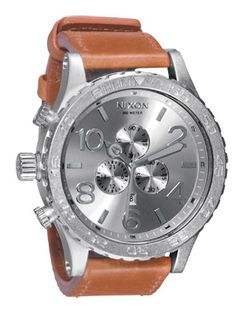 The 51-30 Chrono Leather watch by Nixon. Want. Badly.