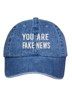 You Are Fake News Dad Hat Baseball Hat Low by PrfctoLifestyle Cute Profile Pictures, Profile Pics, Caps Game, Bag Pins, Embroidered Baseball Caps, Hat Hairstyles, Pin And Patches, New Dads, Fake News