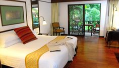 Anantara Hua Hin Resort & Spa: Deluxe Garden View Rooms feature teak and reed furnishings, plus private balconies. Rates from $106/night. Email info@sodynamite.com or visit www.sodynamite.com to book this deal!