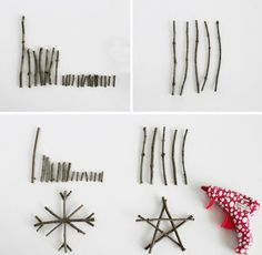 How to make twig ornaments - Rustic Christmas Ornaments Did a star, harder than I thought! A collection of fabulous DIY Rustic Christmas home decor ideas and crafts! Includes a tutorial for Rustic Twig Christmas Ornaments. Natural Christmas, Homemade Christmas, Simple Christmas, Christmas Home, Christmas Holidays, Christmas Ideas, Dark Christmas, Office Christmas, Christmas 2019
