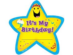 Its My Birthday Star Badges by Creative Teaching Press Teacher Birthday, Birthday Badge, Birthday Star, Birthday Party Hats, Student Birthday Gifts, School Birthday, Happy Birthday Crown, Student Birthdays, Creative Teaching Press