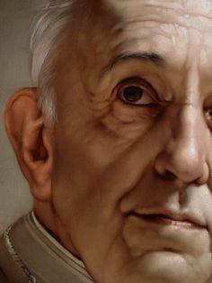 Roberto Ferri -PAPA FRANCESCO(detail)