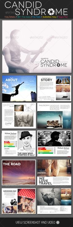 diversity magazine powerpoint template | presentations | pinterest, Powerpoint templates