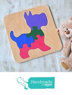 Wood puzzle Dog Waldorf toy Montessori Toys Puppy wooden educational game animal baby Toys wooden puzzles Baby Shower Gift toddler learning game Eco friendly Toddler game Jigsaw Puzzle from KatrinHandmadeGifts