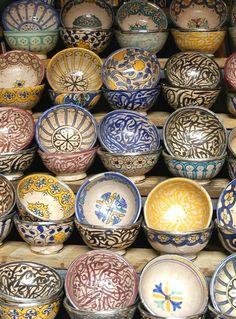 Cerâmicas pintadas..... lindas.