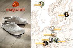 Hausschuhe von Magicfelt® - das ist ein Stück Natur an den Füßen. Für diese federleichten Pantoffeln wird Schafwolle in reinem Gebirgswasser nach alter Tradition in Form gefilzt. Doch wo kommt die Wolle her? Auch hier zeichnet sich die Marke durch eine Besonderheit aus! Alter, Form, Html, Blog, Home Decor, Sheep Breeds, Slippers, Sheep, Inside Shoes