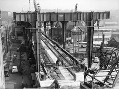 Construction of Circular Quay Railway Station in Sydney (year unknown). Sydney City, Habitats, Past, Stuff To Do, Tourism, Australia, Construction, In This Moment, Turismo