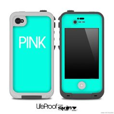 Teal Pink Skin for the iPhone 4/4s or 5 LifeProof Case