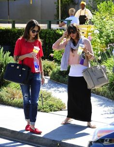 Jordana and Isabella Brewster were spotted having lunch together at Lemonade in West Hollywood, CA. During their lunch Jesse Metcalfe showed up without knowing they were there, and later came up to their table to say hello.