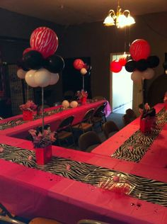 I love how the tables are set up like this. I would like this or a giant rectangle. It makes it more intimate. ~Nina