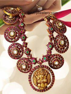 Kundan Haram with Lakshmi Pendant photo