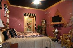 Egypt Bedroom | Egyptian themed room-decorating - Egyptian style bedrooms wall color