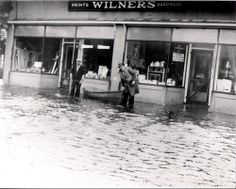 Hurricane of 1938, Canal Street   old center moriches, ny photo