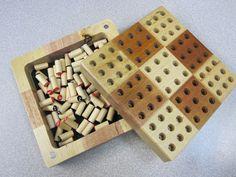 Sudoku Wood Board Game Set Wooden Peg Pieces Mini Travel Number Puzzles Suduko | eBay