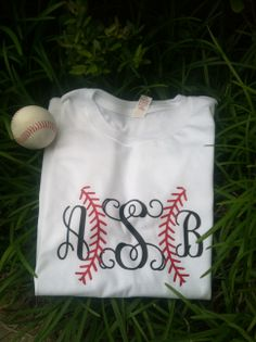 Take me out to the ballgame monogram T-shirt.  These come in black, red, white and gray.  www.facebook.com/pages/Sassy-Decor-and-More-LLC/365352106761