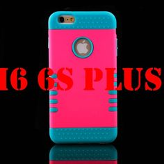 Luxury 3 in 1 Plastic Hard Case For iphone 6 6S 4.7 / 6 6S Plus 5.5 Silicone Cover Heavy Duty Armor Hybrid Phone Cases Capa Pink