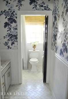 """Today we are excited to share with you our upstairs bathroom makeover which we generally refer to as """"the girls' bathroom"""". Bathroom Toilets, Bathroom Renos, Bathroom Renovations, Bathroom Ideas, Bathroom Plants, Bathroom Inspo, Washroom, Teen Bathrooms, Upstairs Bathrooms"""