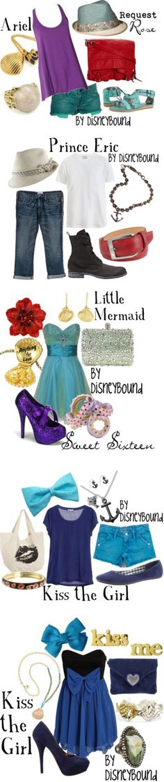 The Little Mermaid By DisneyBound- These are just few of Leslie Kay's The Little Mermaid Collection