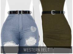 Simpliciaty – Western Belt for The Sims 4 The Sims 4 Pc, Sims Four, Sims 4 Mm, Sims 4 Mods Clothes, Sims 4 Clothing, Modest Clothing, Modest Outfits, Skirt Outfits, Summer Outfits