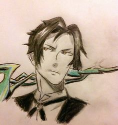 A drawing of Claude of Black Butler II.