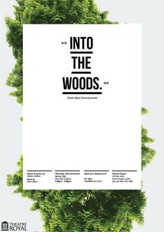 """culturedisco:  Poster for """"Into the Woods"""" at the Theatre Royal, Newcastle."""