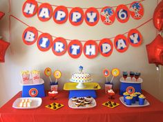 "Photo 6 of 21: Sonic the Hedgehog / Birthday "" Sonic Sebastian 6th Birthday party!"" 