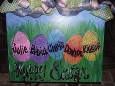 Easter customized paint on canvas.