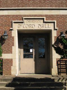 McCord Hall, 1947, East Entrance.