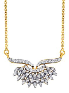 White CZ diamond studded copper base mangalsutra. Length of mangalsutra is approx 18 inches.