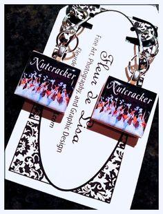 Nutcracker Snow Pierced Earrings   by FleurdeLisaStudio on Etsy, $12.50