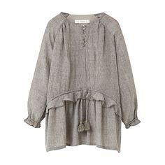Buy Mango Kids Girls' Fluted Hem Dress, Grey Online at johnlewis.com
