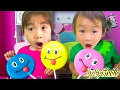 Wendy and Roma pretend play with Fruit Candy | 동요와 아이 노래 | 어린이 교육 | Ly Ly Studio - YouTube